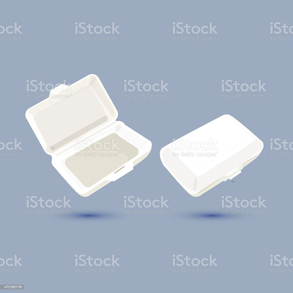 foam lunch box - vector ilustration vector art illustration