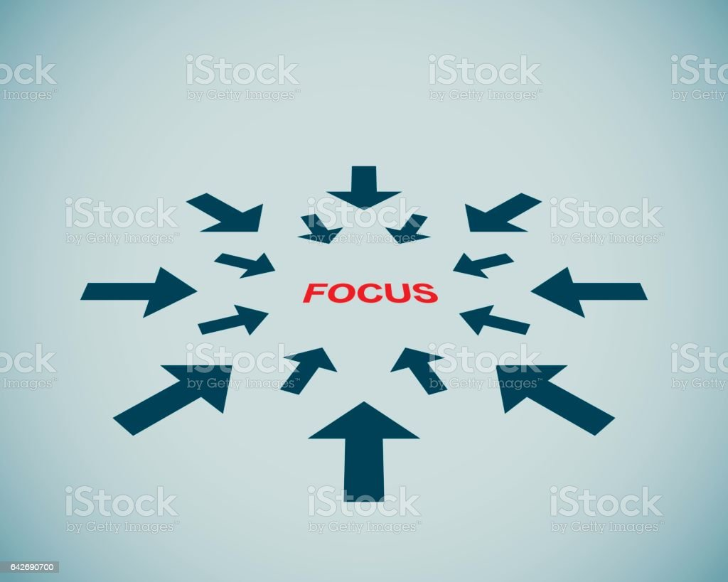 focus - concept vector art illustration