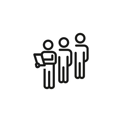 Focus group line icon