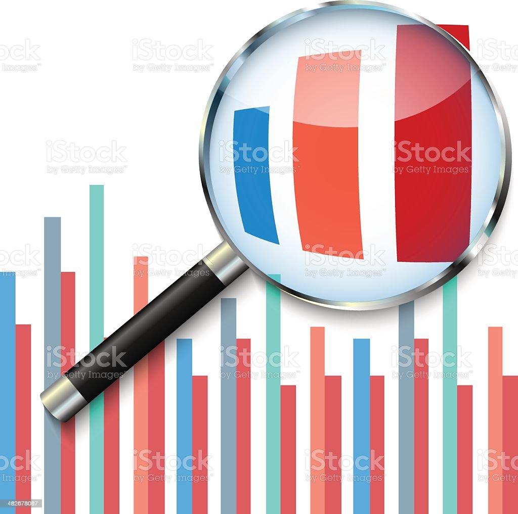 Focus on analysing results vector art illustration