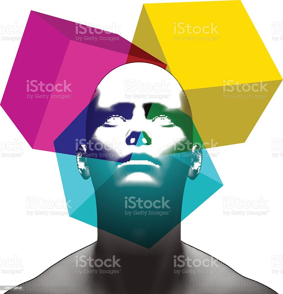 3D Focus vector art illustration