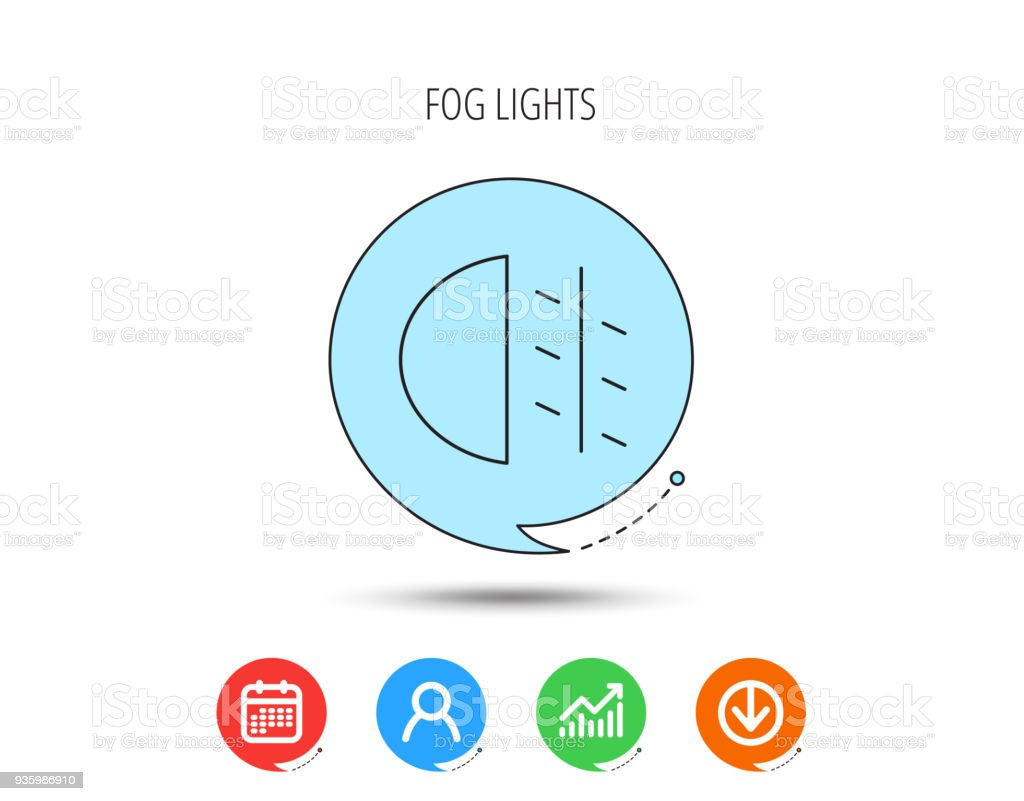 Fog Lights Icon Car Beam Sign Stock Vector Art More Images Of