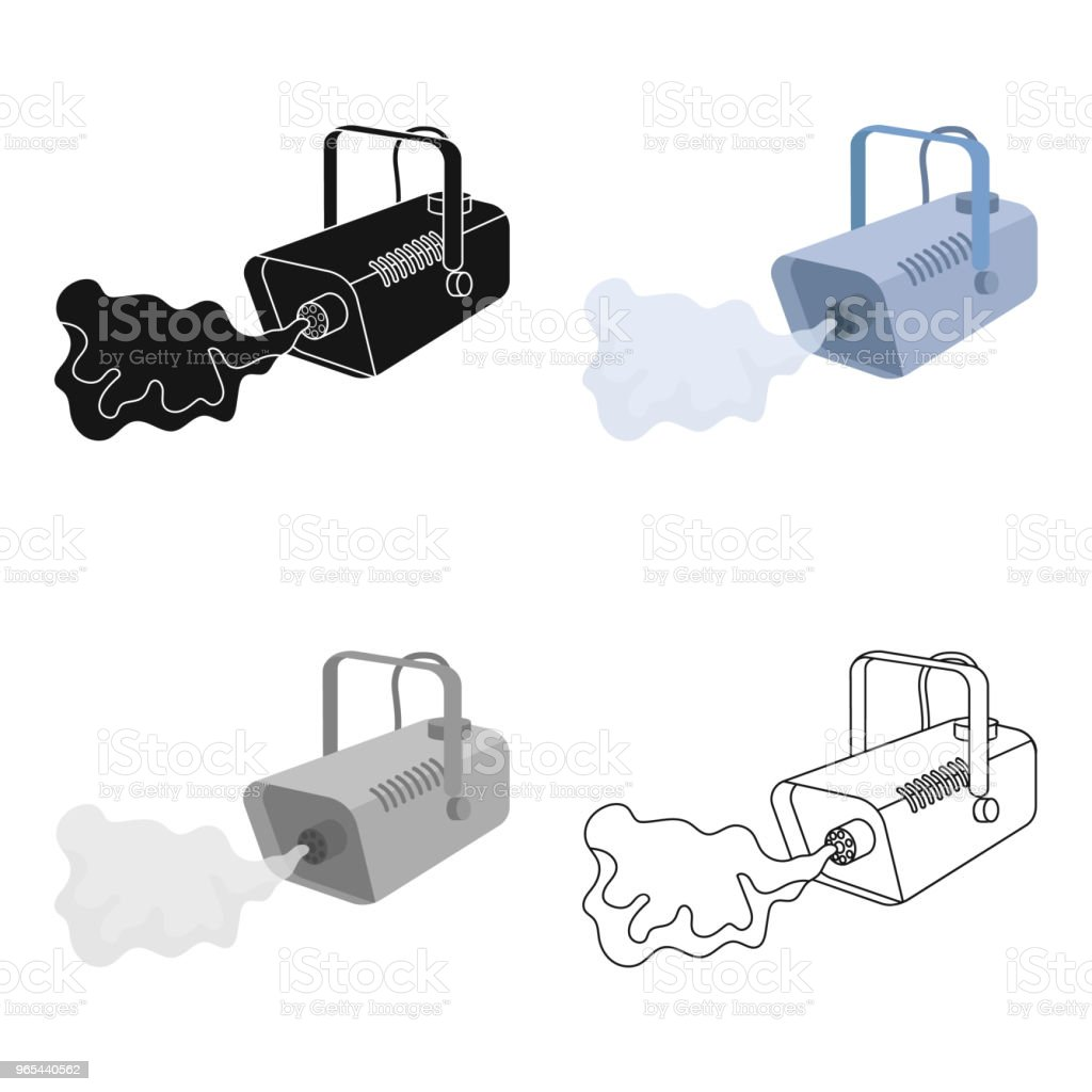 Fog machine icon in cartoon style isolated on white background. Event service symbol stock vector web illustration. fog machine icon in cartoon style isolated on white background event service symbol stock vector web illustration - stockowe grafiki wektorowe i więcej obrazów część maszyny royalty-free
