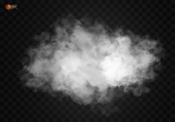 fog or smoke isolated transparent special effect - smoke stock illustrations