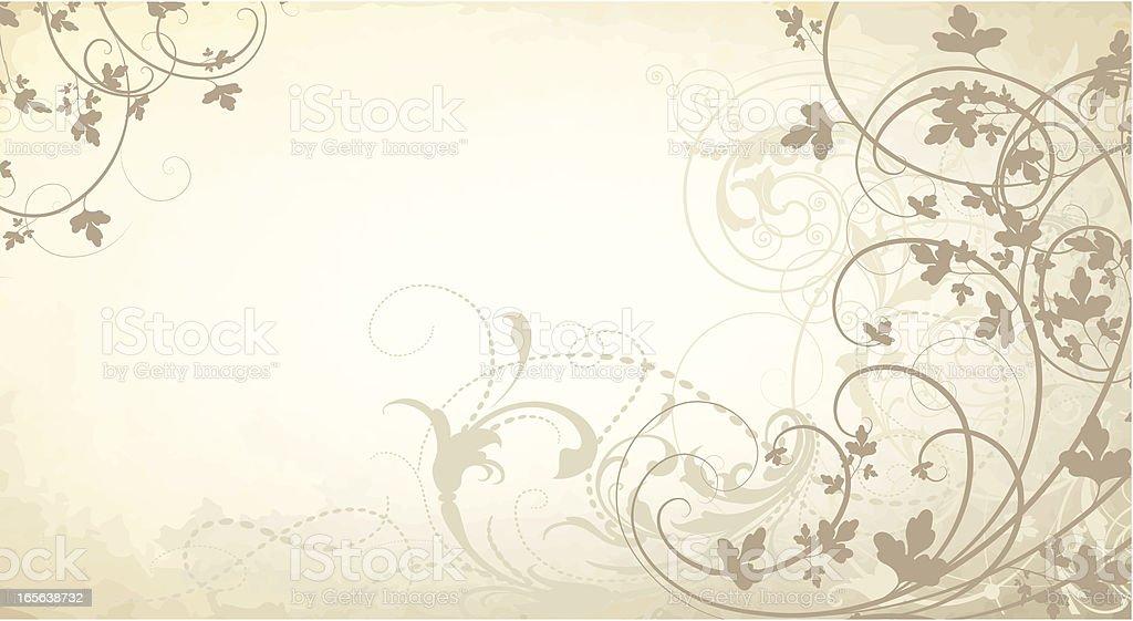 Foggy Scrollwork royalty-free stock vector art