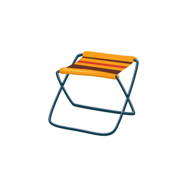 Best Folding Camping Stool Illustrations Royalty Free