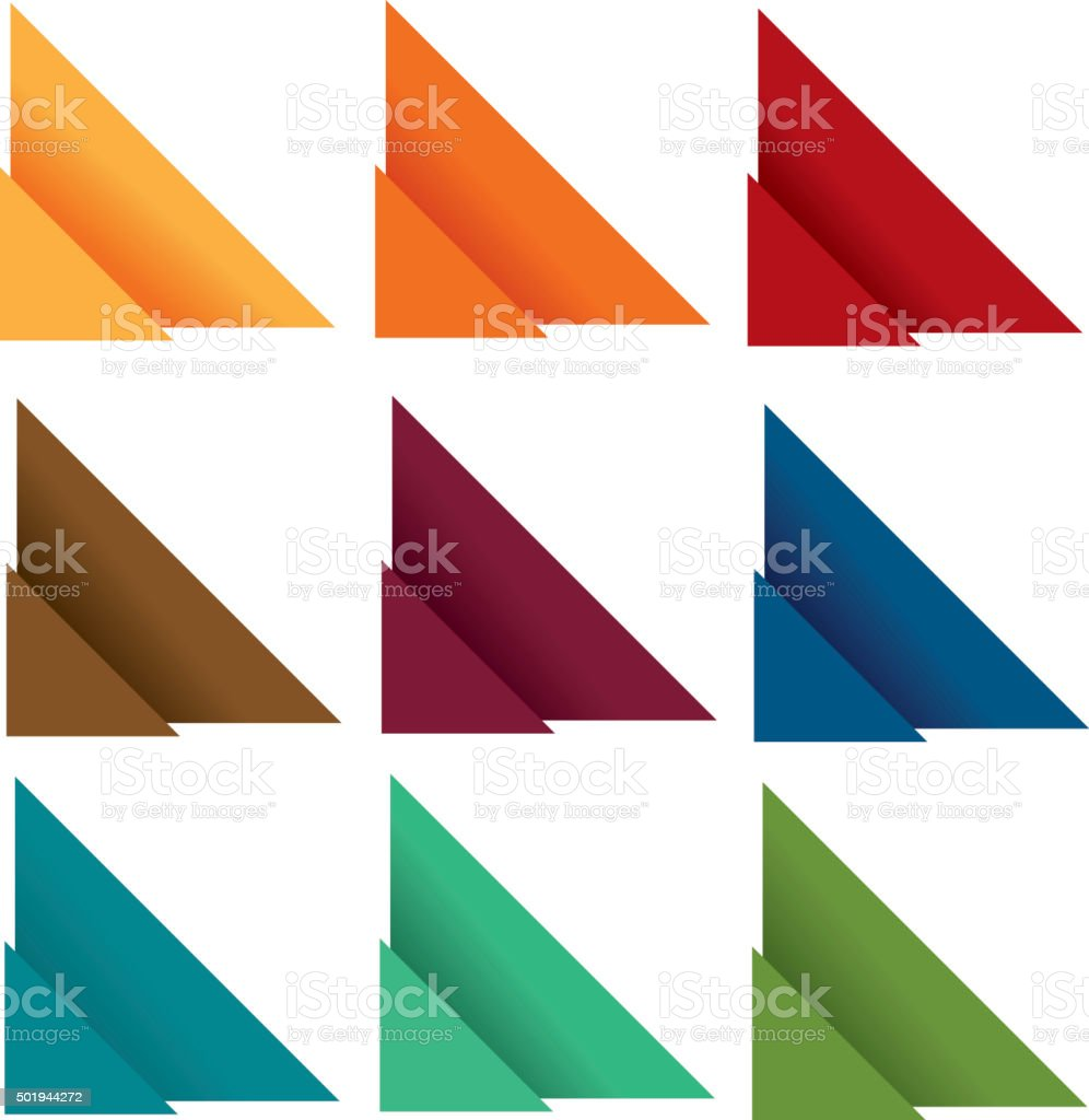 Folded 1 royalty-free folded 1 stock vector art & more images of blue
