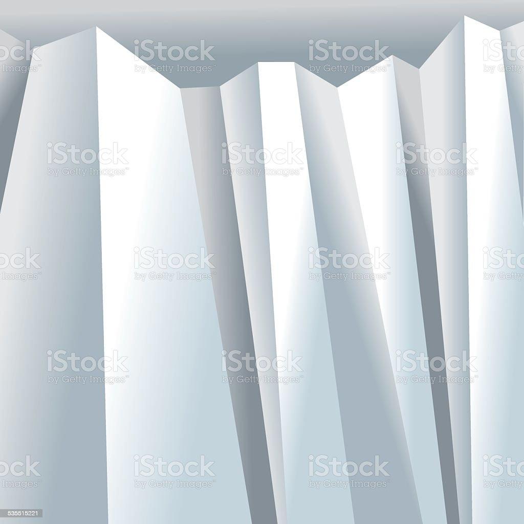 Folded background vector art illustration