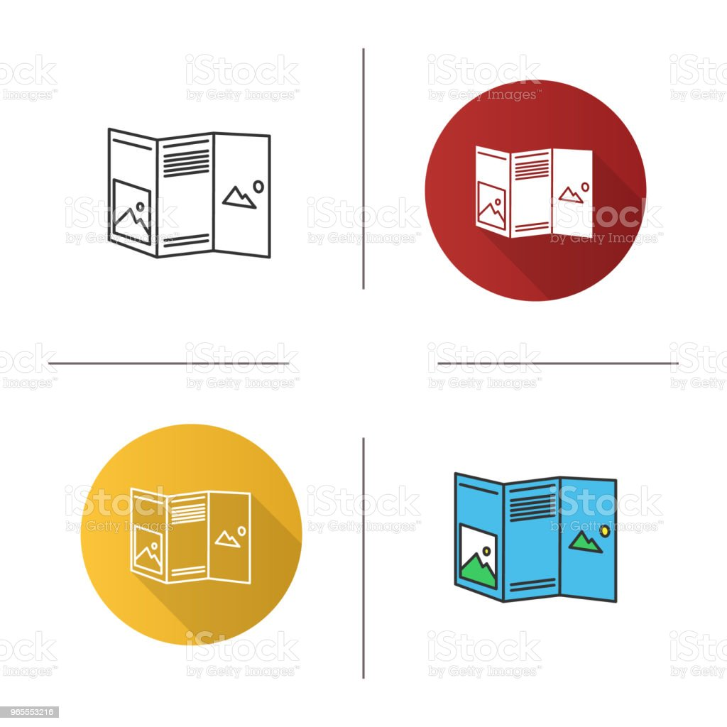 folded brochure mockup icon stock vector art more images of