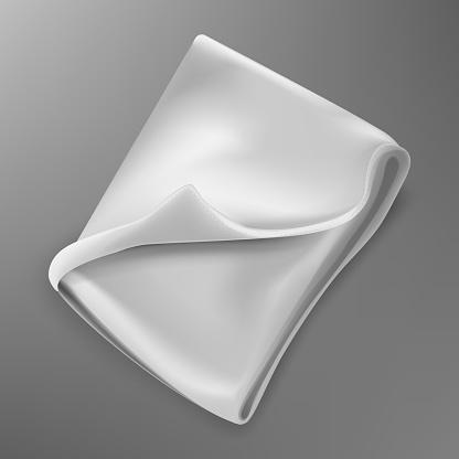 Folded fleece blanket