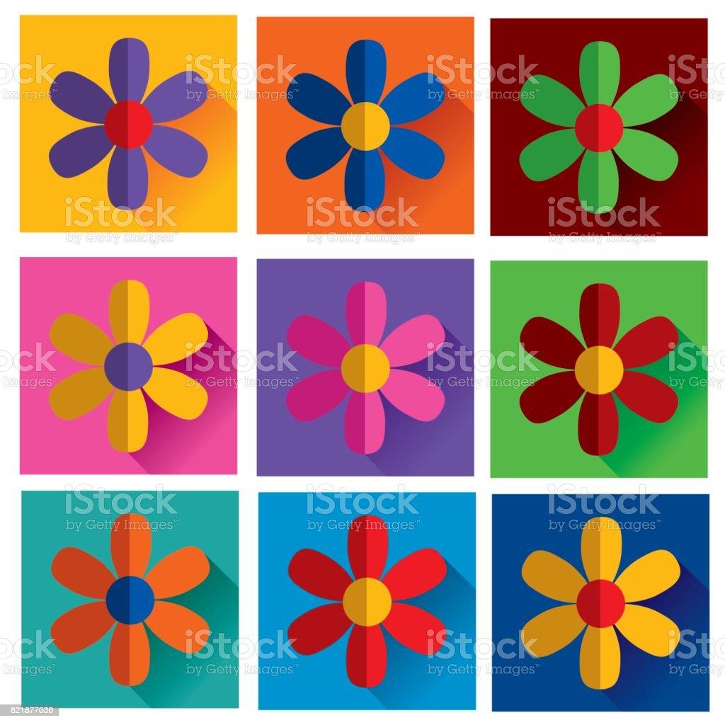 Folded flower vector art illustration