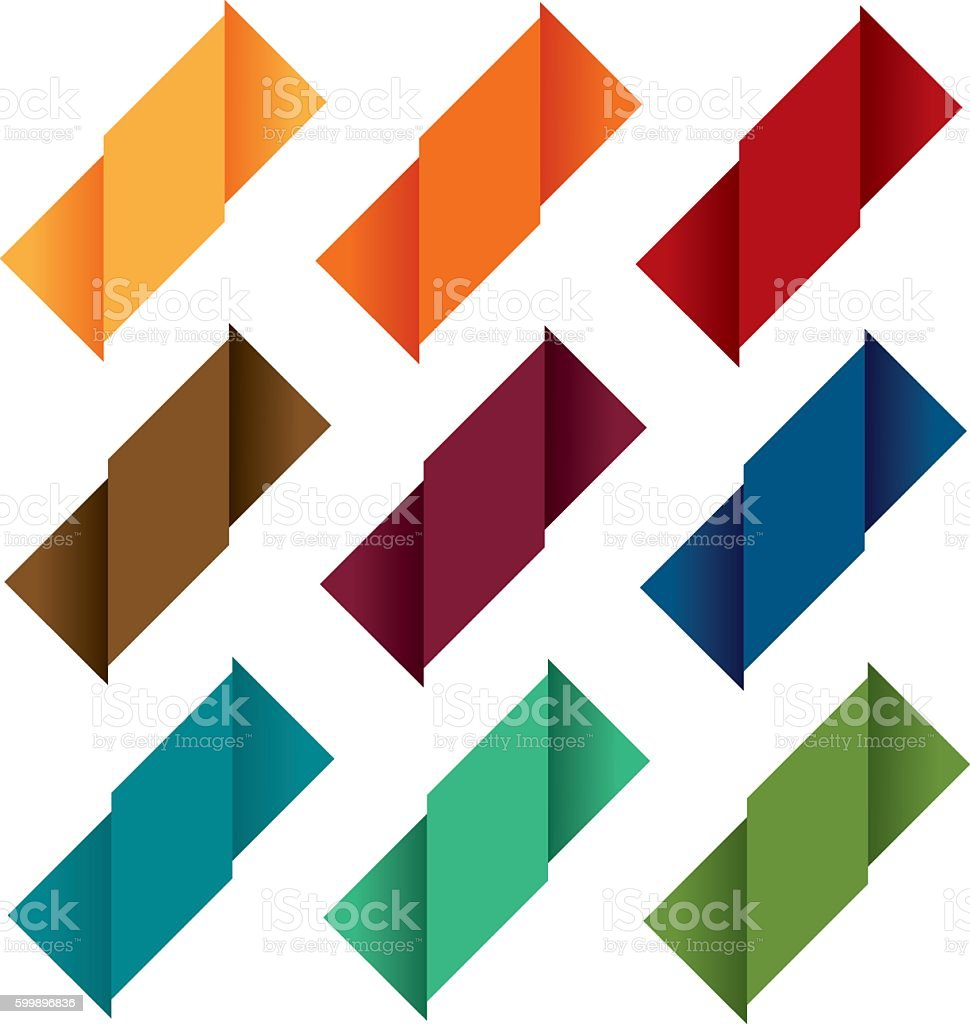 Folded labels 8 royalty-free folded labels 8 stock vector art & more images of at the edge of