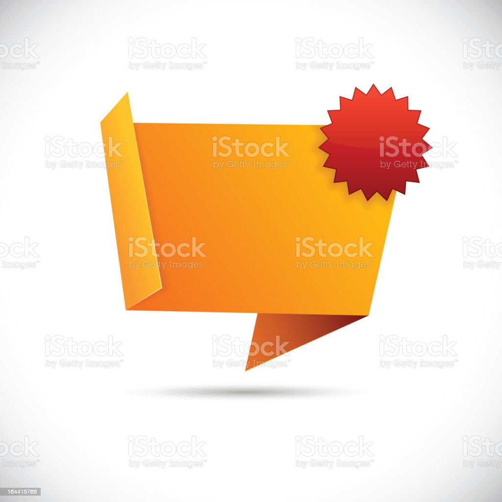 Folded orange paper with a many pointed red star royalty-free folded orange paper with a many pointed red star stock vector art & more images of abstract