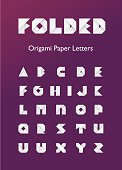 Folded Origami Paper Letters