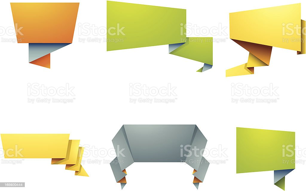 Folded Paper Banners royalty-free stock vector art