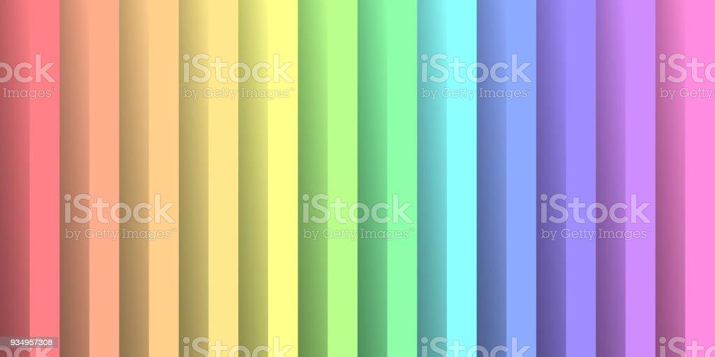 In den Farben des Regenbogen-Spektrums Papier gefaltet. Mit Schatteneffekt. Glücklich abstrakte Vektor Hintergrundbild – Vektorgrafik