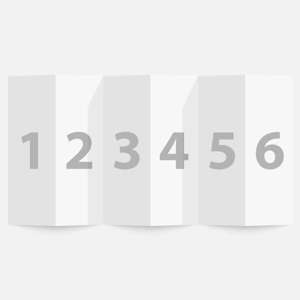 Gefaltete Papier auf weißem Hintergrund – Vektorgrafik