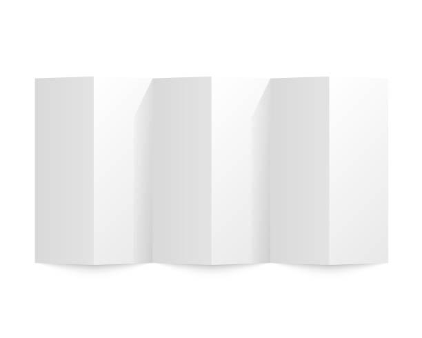 Auf einem weißen Hintergrund Papier gefaltet. Vektor-illustration – Vektorgrafik