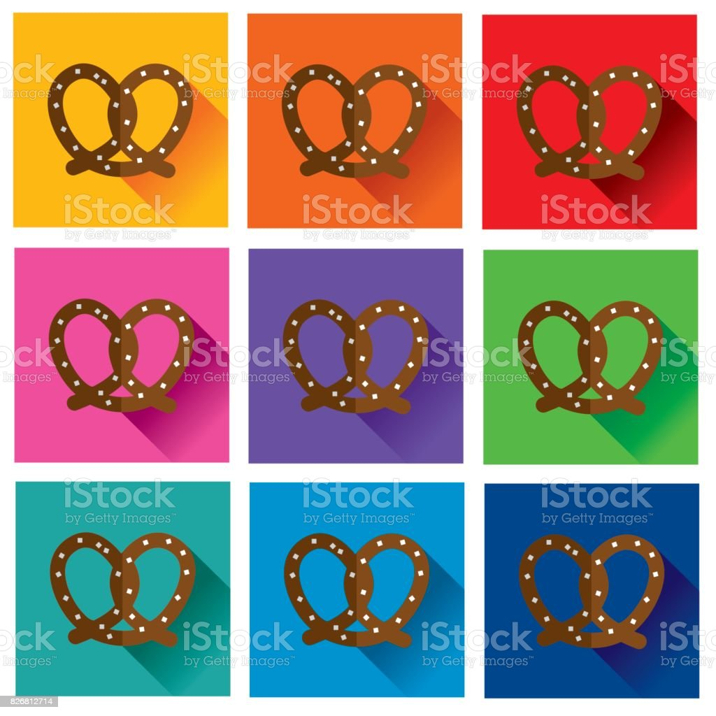 Folded pretzel royalty-free folded pretzel stock vector art & more images of chile