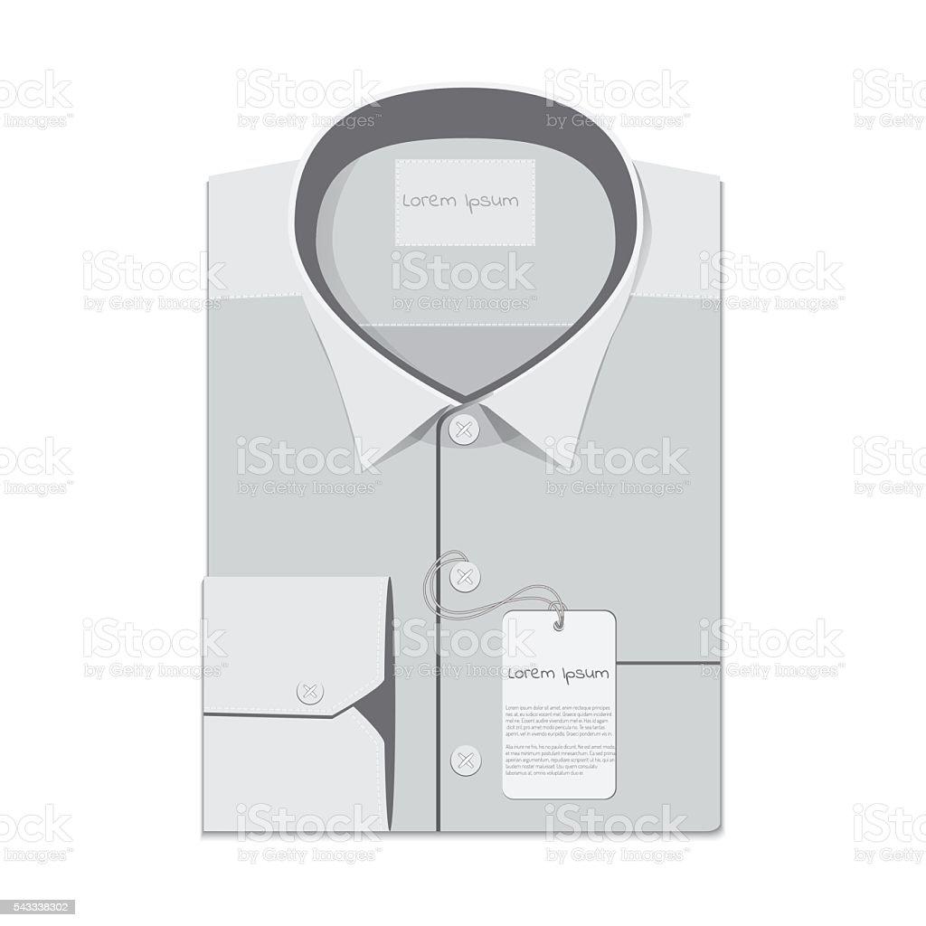 folded shirt isolated on white background vector art illustration
