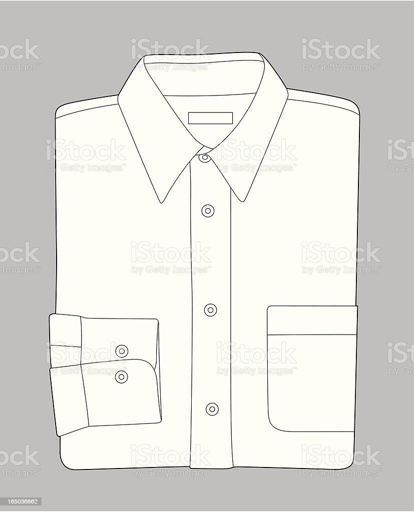 Folded Shirt vector art illustration