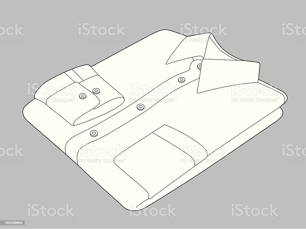 Folded Shirt royalty-free stock vector art