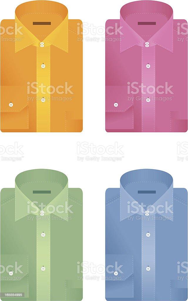 Folded shirts vector art illustration
