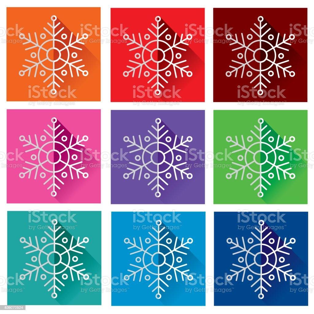 Folded snowflake vector art illustration