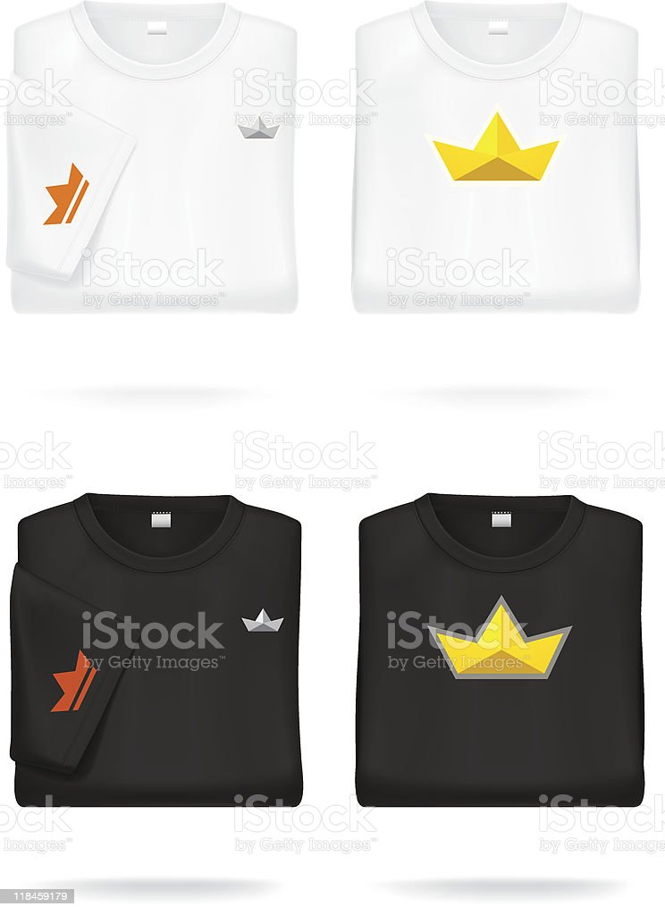 Folded T-shirts. vector art illustration