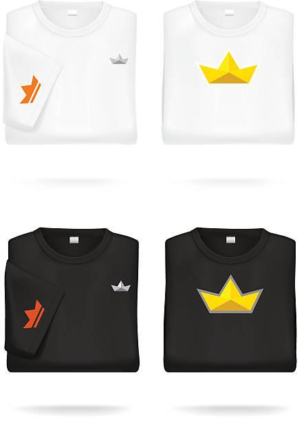 Folded T-shirts. vector art illustration