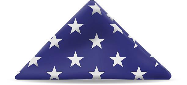 Folded U. S. Flag vector art illustration