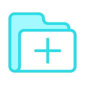 folder add colour line vector icon