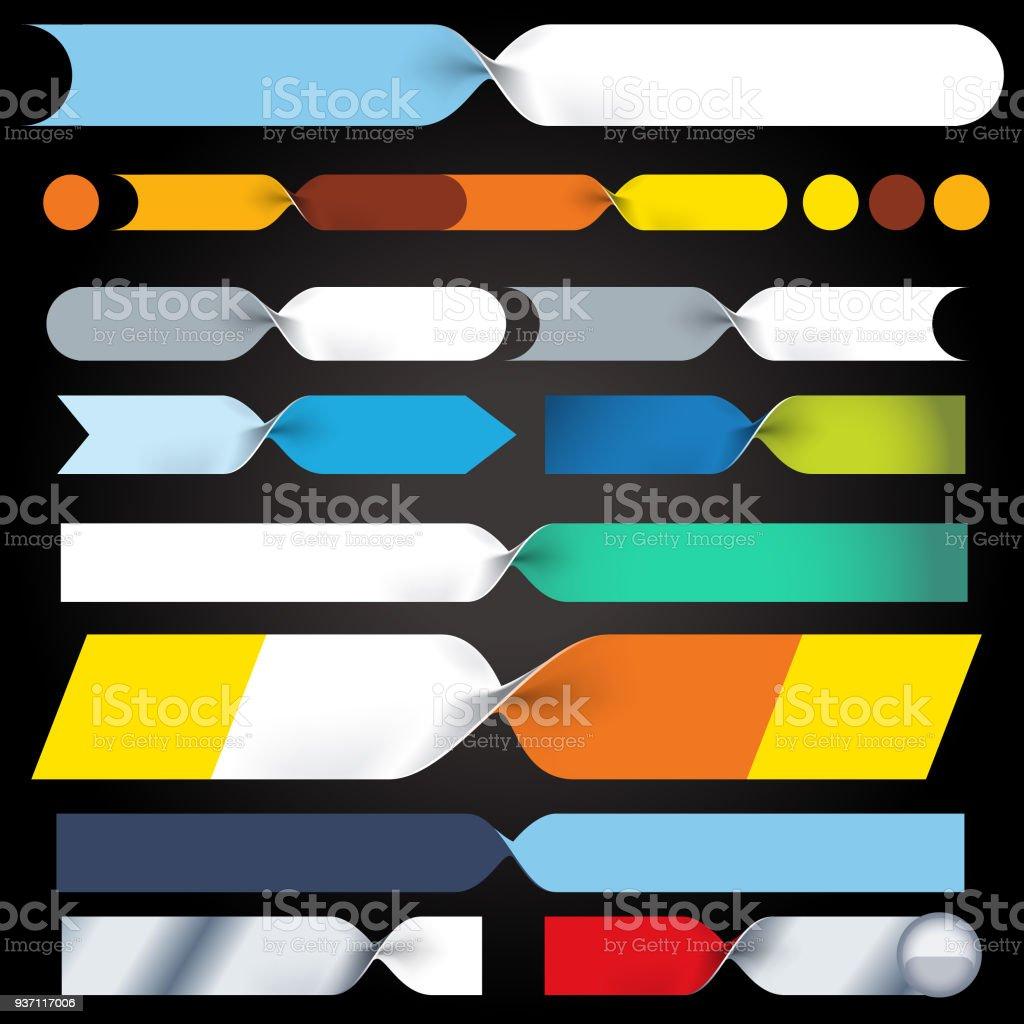Folder bands vector art illustration