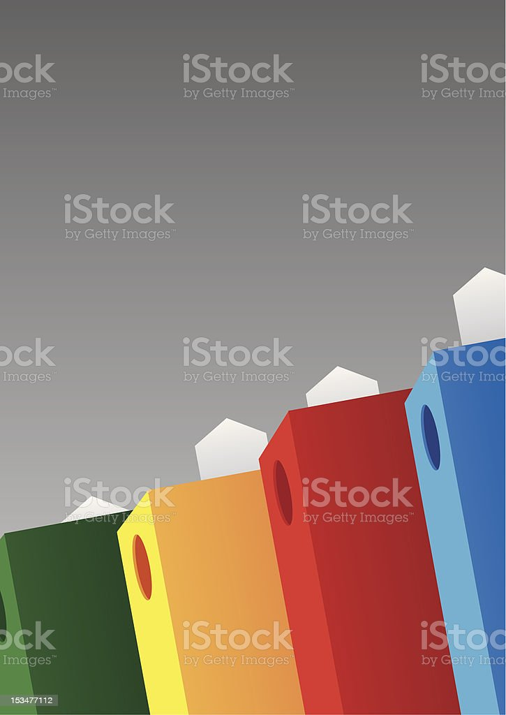 folder binders background royalty-free stock vector art