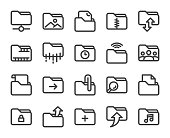 Folder Bold Line Icons Vector EPS File.