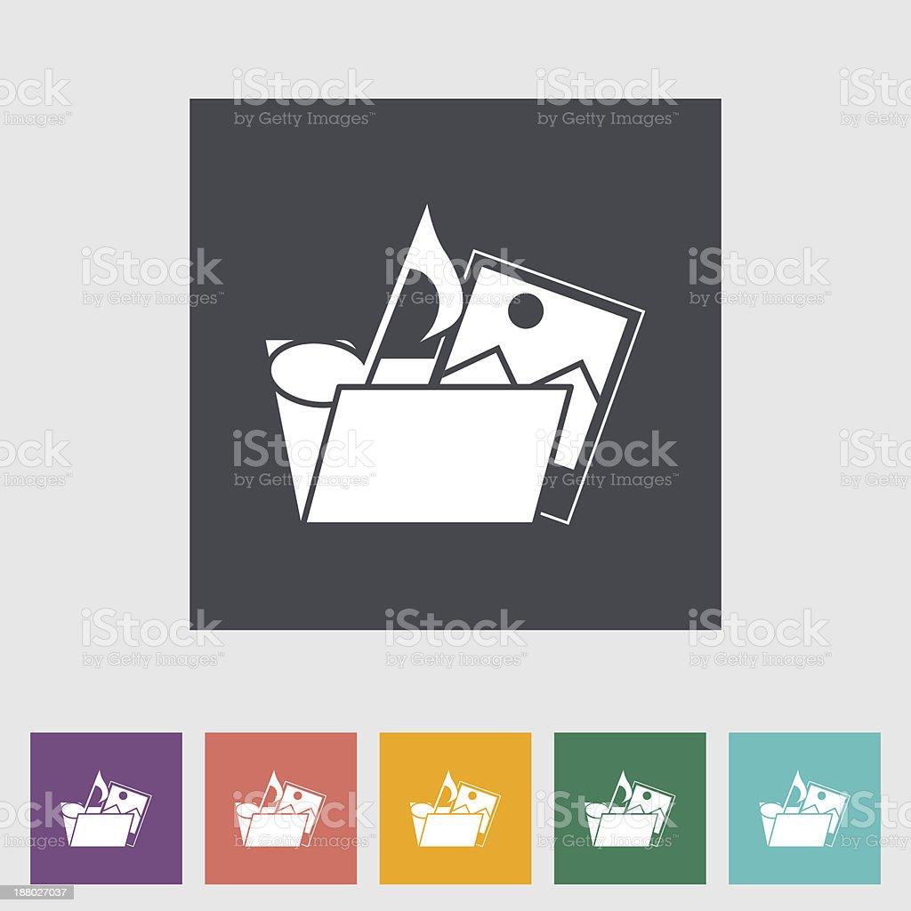 Folder flat icon. royalty-free stock vector art