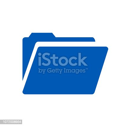 Folder flat icon – vector illustration