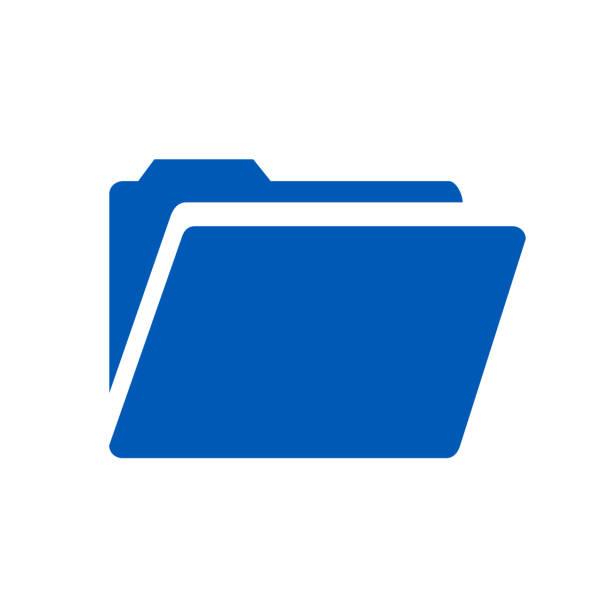flache ordnersymbol – vektor-illustration - folder stock-grafiken, -clipart, -cartoons und -symbole