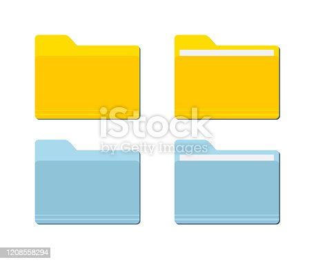 Folder for documents Icon. Vector folder desktop computer