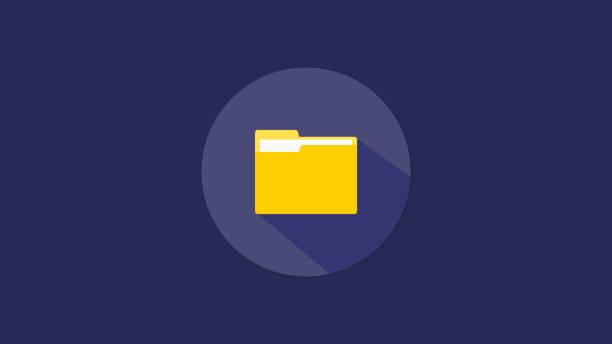 ordner icon design vektor-dateien - folder stock-grafiken, -clipart, -cartoons und -symbole