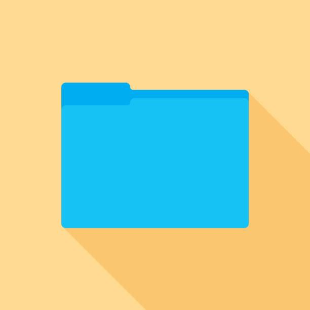 folder icon flat 2 - ring binder stock illustrations