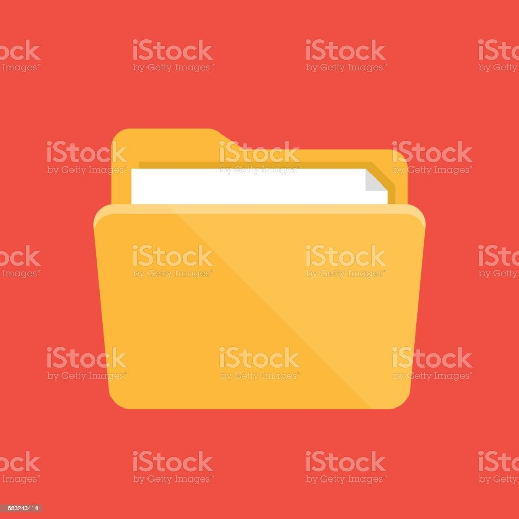 Folder icon. Flat design graphic illustration. Vector folder icon vector art illustration