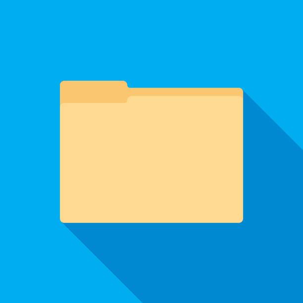 folder icon flat - ring binder stock illustrations