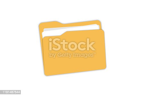 istock Folder Icon. Open folder with documents for your web site design, app, logo, UI 1191487544