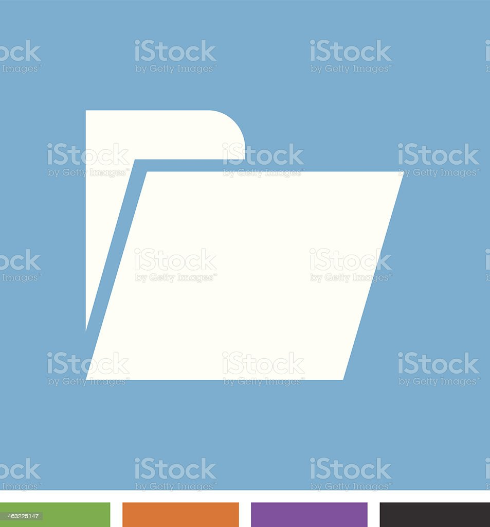 Folder icon royalty-free folder icon stock vector art & more images of black color