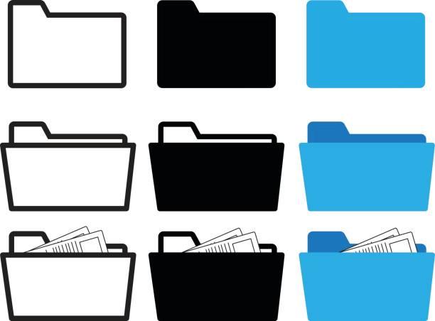 ordner-symbol - folder stock-grafiken, -clipart, -cartoons und -symbole