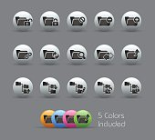 Folder Icons 1 of 2 - Pearly Series