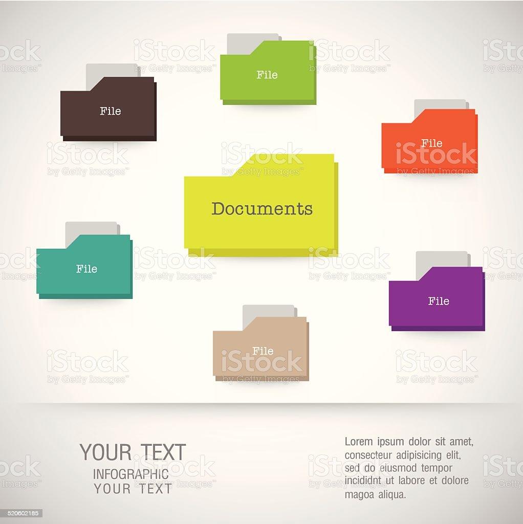 Folder icons Business set - illustration vector art illustration
