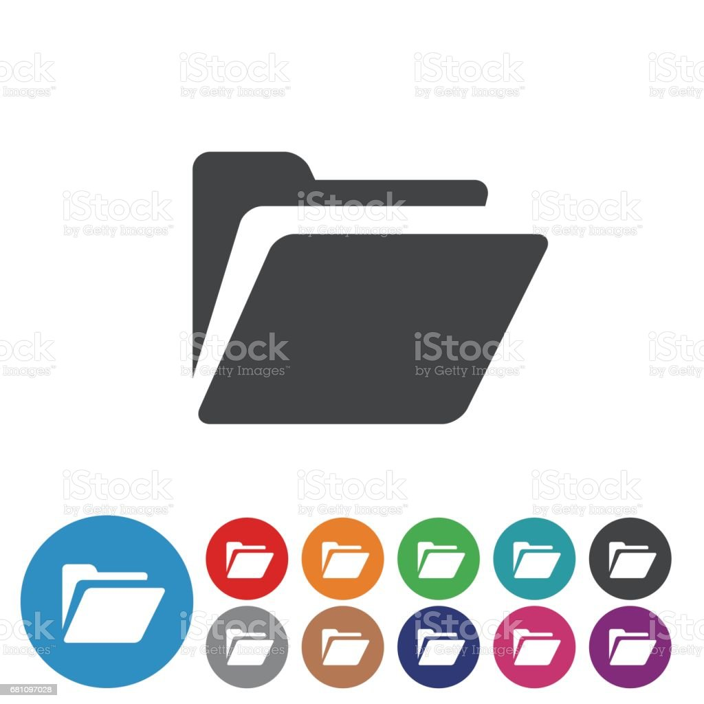 Folder Icons Set - Graphic Icon Series vector art illustration