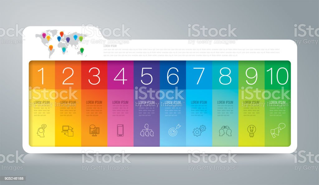 Folder infographics design vector and business icons. vector art illustration